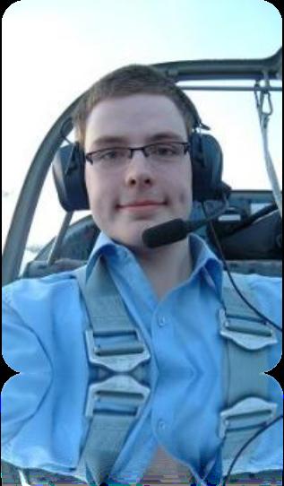 Ich als Co-Pilot beim Osterfeuerfliegen mit meinem Cousin Thomas